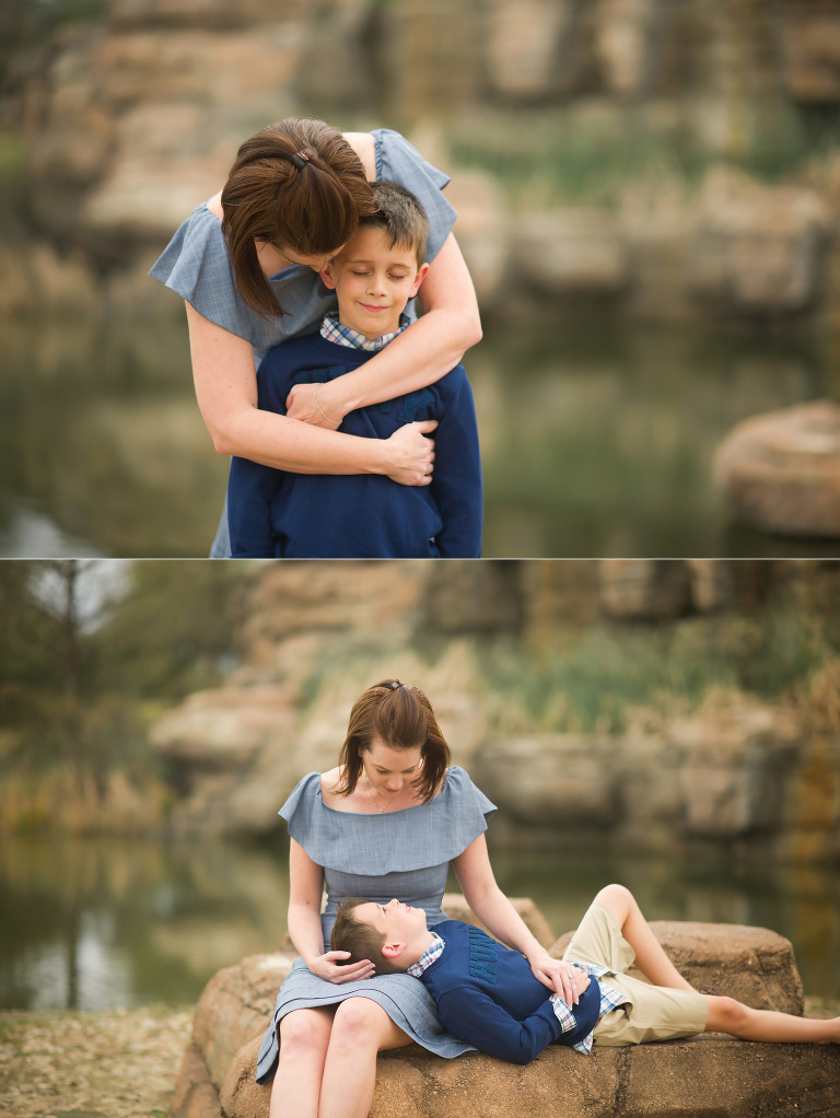 Mother and son love. Houston Texas photography.