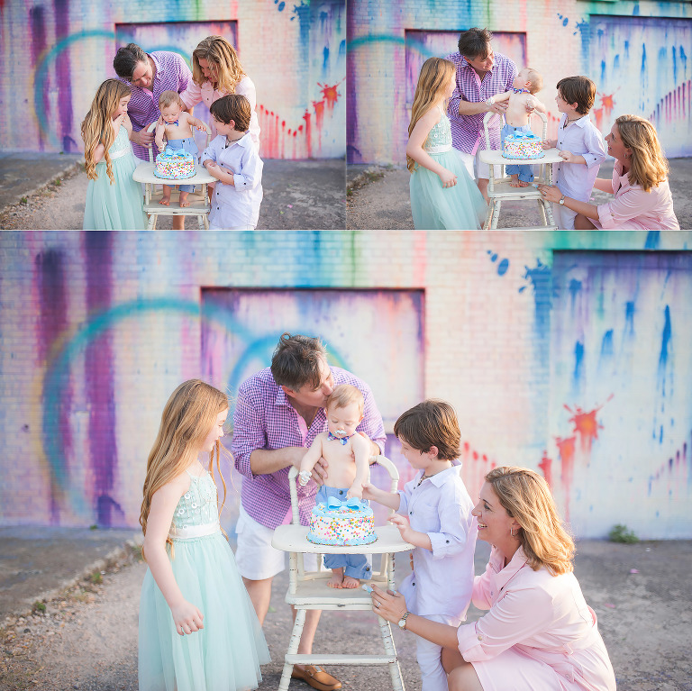 Surprise family session in Downtown Houston.