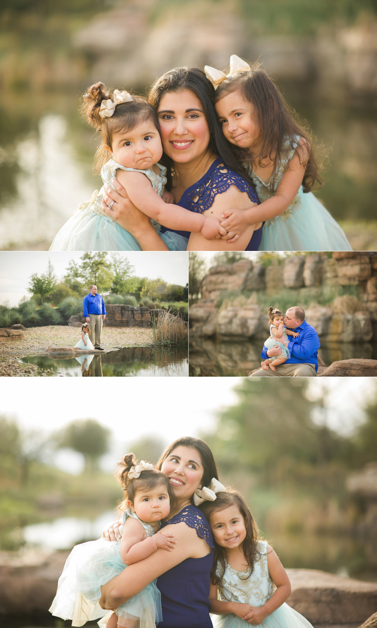 Photography of sweet parents with their kiddos. Cypress is a great location.