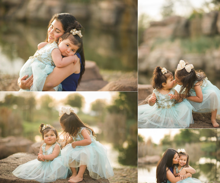 kisses and hugs are the best. Photographer Houston